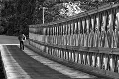 Walking Away. Royalty Free Stock Images