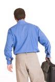 Walking away again. Business man walking away from meeting Stock Photos