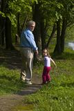Walking away together Royalty Free Stock Photography