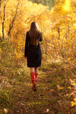 Walking away Royalty Free Stock Images
