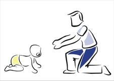 Walking baby Royalty Free Stock Image