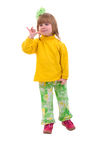 Walking Baby Girl. royalty free stock photo