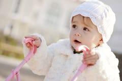 Walking baby girl Royalty Free Stock Photo