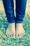 Walking barefoot Royalty Free Stock Photos