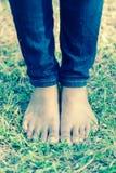 Walking barefoot Royalty Free Stock Photos