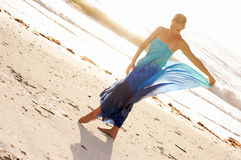 Walking on beach Royalty Free Stock Photo