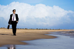 Walking in the beach Royalty Free Stock Photography