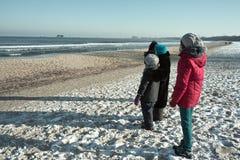 Walking on the beach. Royalty Free Stock Photos