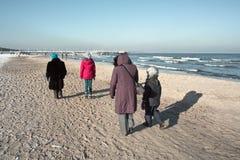 Walking on the beach. Royalty Free Stock Photo