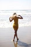 Walking on beach Royalty Free Stock Image