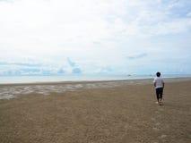 Walking on the beach Royalty Free Stock Photo