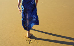 Walking on the beach Stock Image