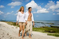 Walking on a beach Royalty Free Stock Photo