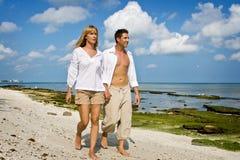 Walking on a beach Royalty Free Stock Photo