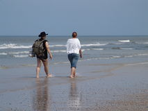 Walking at the beach Stock Photography