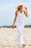 Walking On Beach Stock Photography