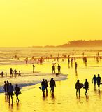 Walking on the beach. Bali Stock Photography