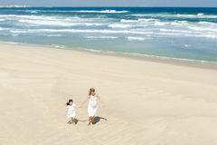Walking on the beach Royalty Free Stock Photo