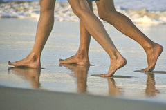 Walking on the Beach at Cabarete, Dominican Republic Stock Image