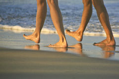 Walking on Beach at Cabarete, Dominican Republis Royalty Free Stock Images