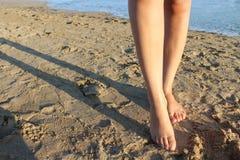 Walking in beach Stock Photos