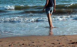 Walking in beach Royalty Free Stock Images