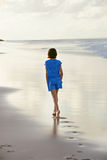 Walking on beach Royalty Free Stock Images