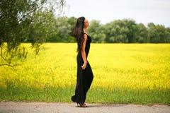 Walking beautiful young woman Stock Photography