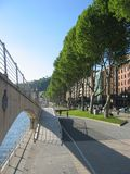 Walking in Bilbao. By the river Nervion stock image