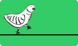 Walking bird. The simple walking. The simple art Stock Image