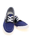 Walking blue sneakers. Pair of walking blue sneakers on white background Stock Photos