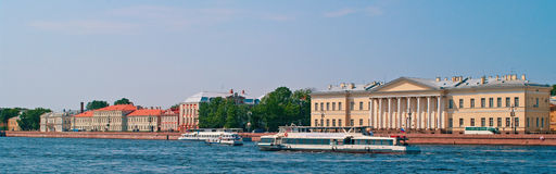 Walking boats on the river Neva Royalty Free Stock Photography
