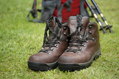 Walking boots Stock Photos