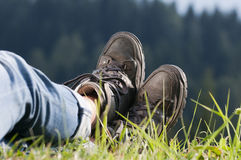 Walking boots Royalty Free Stock Photo