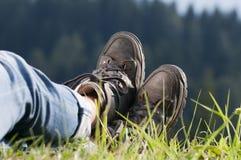 Walking boots Royalty Free Stock Photo