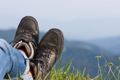 Walking boots Stock Photography