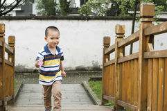 Walking boy Royalty Free Stock Photography