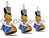 Walking brave drummers. Vector illustration of walking brave drummers Royalty Free Stock Images