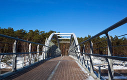 Walking bridge Royalty Free Stock Images