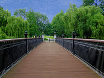 Walking bridge. Wooden walking bridge way stock photography
