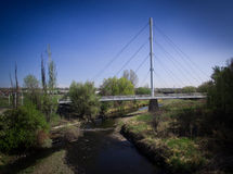 Walking bridge in Arvada. A walking bridge crossing a stream in Arvada, Colorado Stock Photos