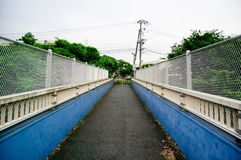Walking Bridge in Japan is taken around Tokyo, Japan. It was pictured in the winter season.  stock images