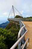 Walking bridge in the mountains on Lankawi island Stock Photos
