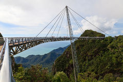 Walking bridge in the mountains on Lankawi island Royalty Free Stock Images