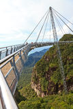 Walking bridge in the mountains on Lankawi island Stock Image