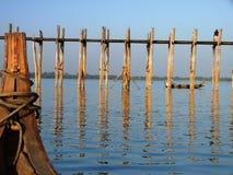 Walking bridge in Myanmar (Burma) Stock Photos