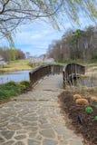 Walking Bridge Outdoor Park Spring Stock Photo
