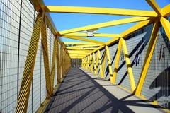 Walking bridge over bybass of Vilnius city in western side Royalty Free Stock Image