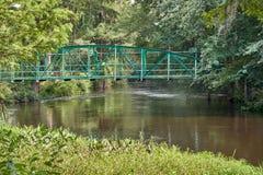Walking bridge over Edisto River. Walking bridge over the Edisto River, which is the longest free flowing blackwater river in North America Royalty Free Stock Photos