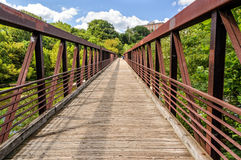Walking Bridge over the James River in Richmond Va. Stock Photo